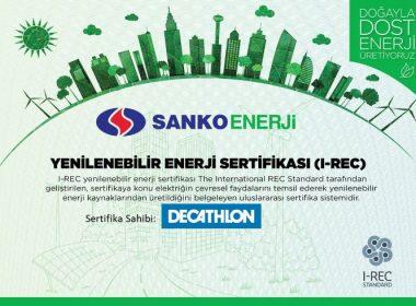 sanko enerji yeşil enerji sertifikası