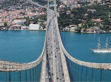 Fatih Sultan Mehmet köprüsü askı onarım