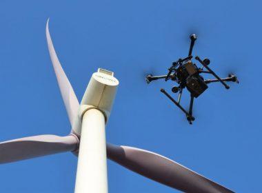 rüzgar türbini drone inceleme
